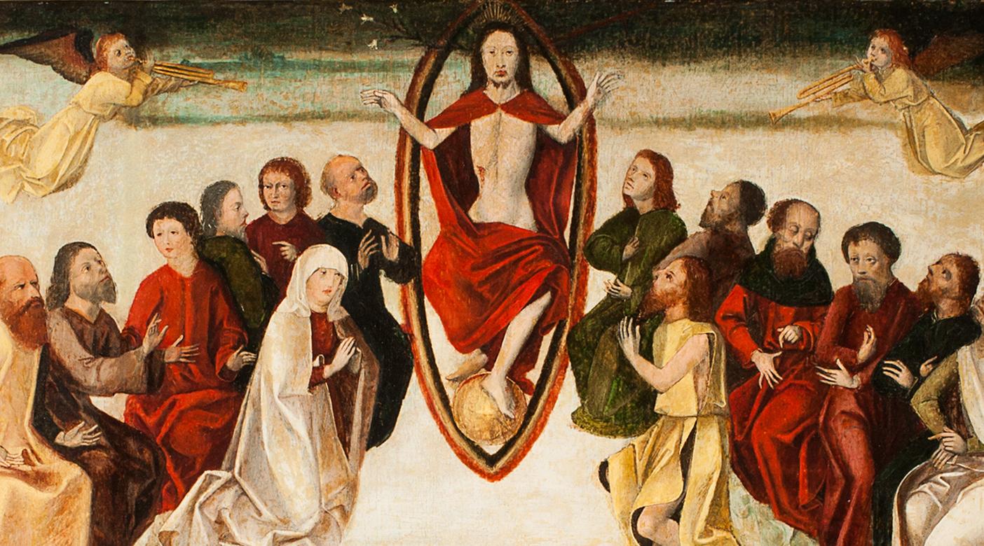 Alpenländischer Maler: Gerichtstafel des Stadtrichters Niclas Strobel, 1478 Öl/Tempera auf Fichtenholz, Rahmen 20. Jh. © Sammlung GrazMuseum