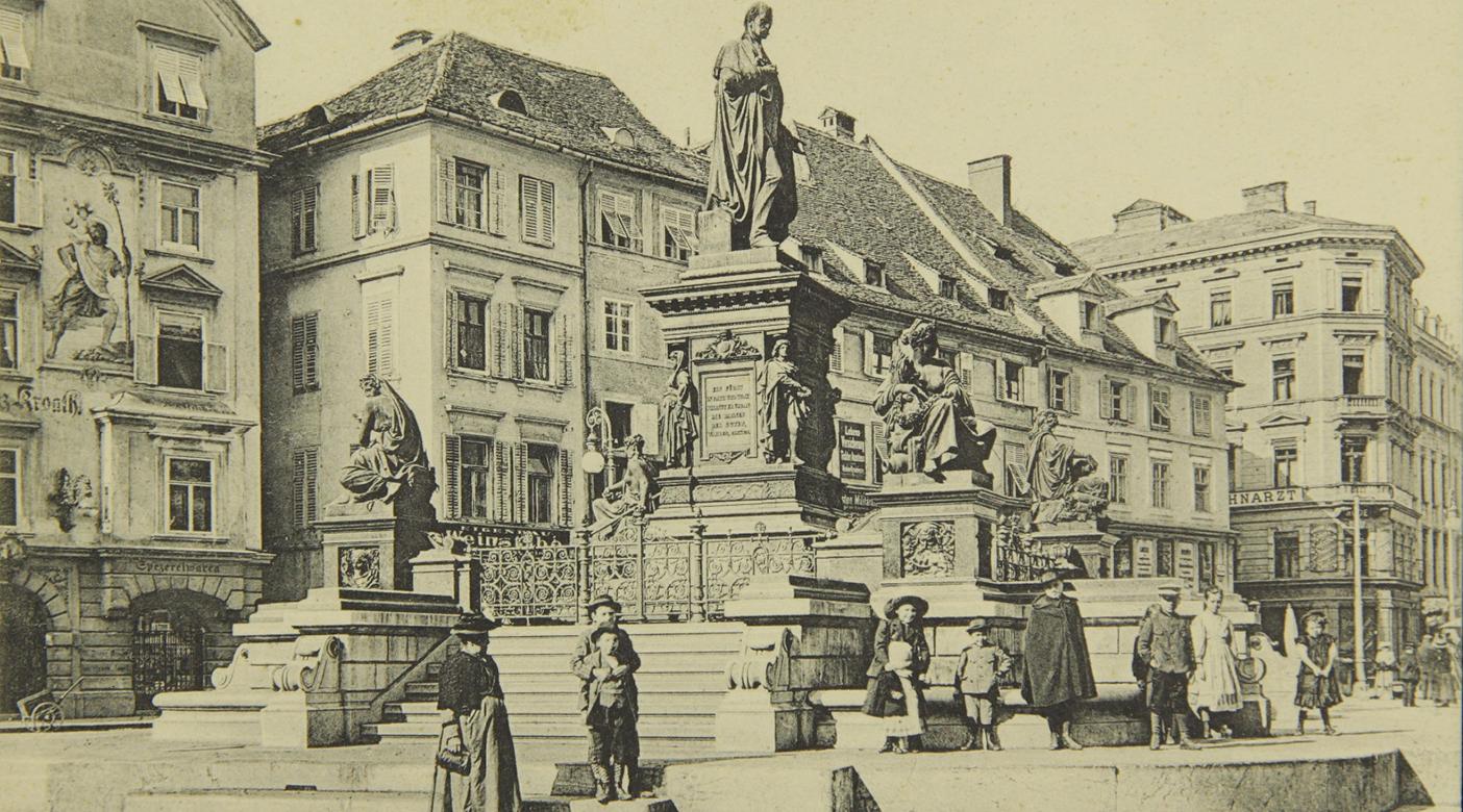 Der Erzherzog-Johann-Brunnen um 1920 © Sammlung GrazMuseum