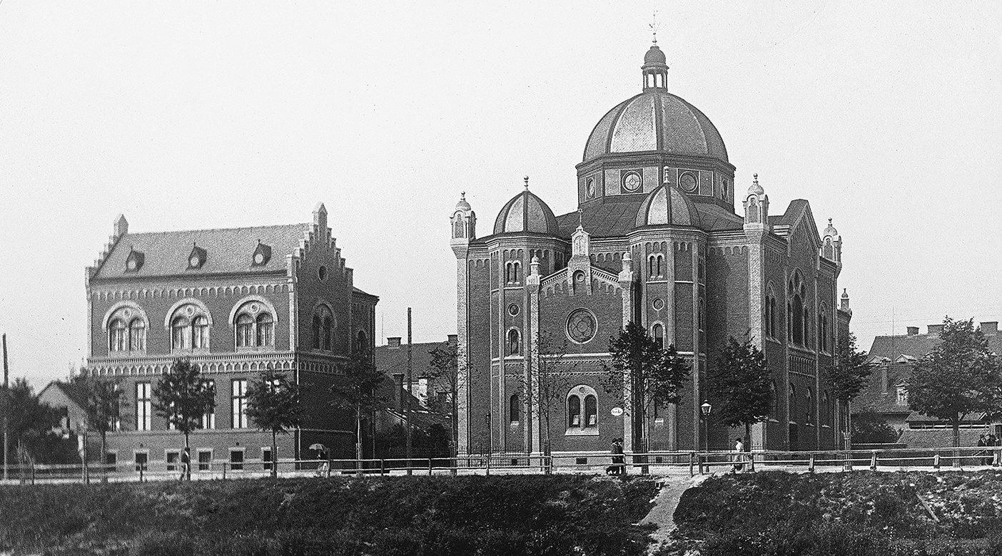 Judentempel mit Schule am Grieskai um 1900 © Stadtarchiv Graz