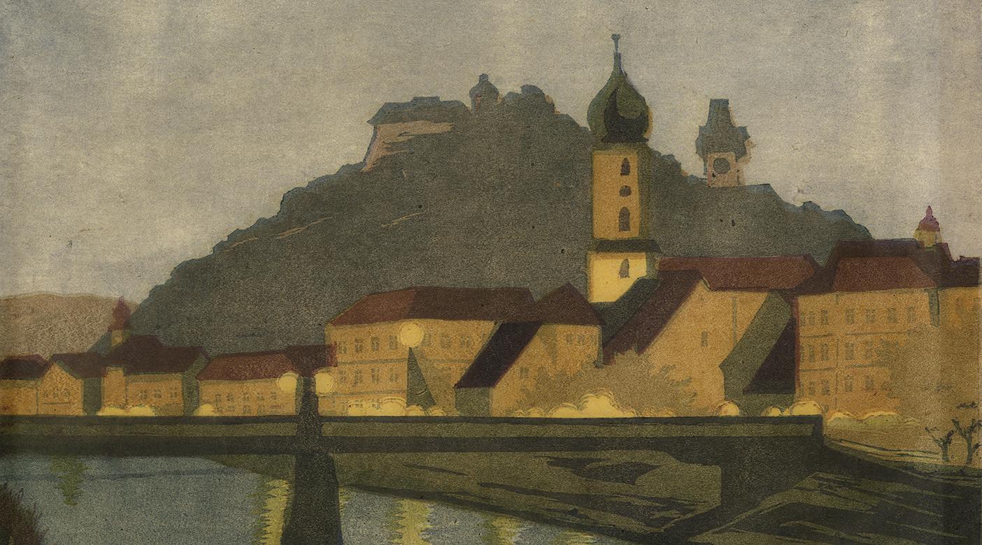 Carl Rothky, Tegetthoffbrücke und Franziskanerkirche, 1930er © Sammlung GrazMuseum